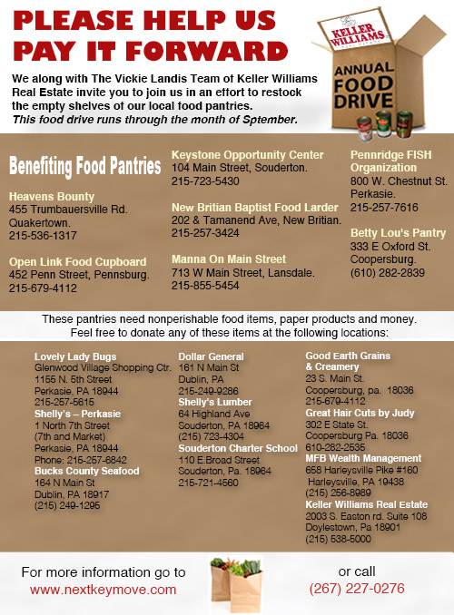 food drive email